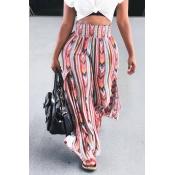 Lovely Leisure High Waist Printed Pants(Elastic)