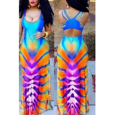 Lovely Sweet Multi-color Floor Length  Dress