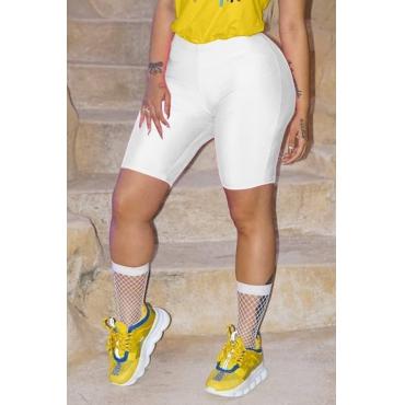 Lovely Leisure White Skinny Shorts