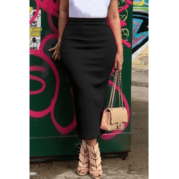 Lovely Casual Black Skirt