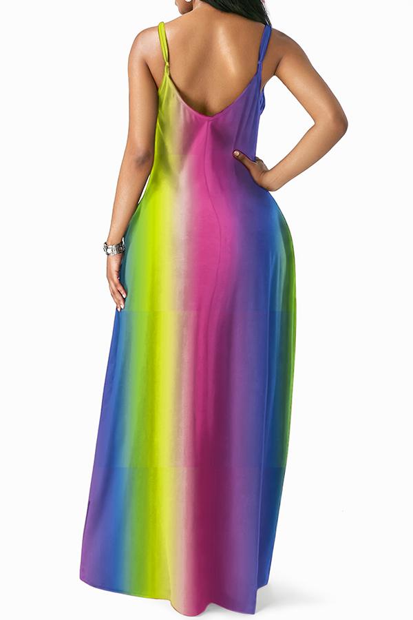 Schönes Lässiges Bodenlangen Kleid (mit Gummiband)