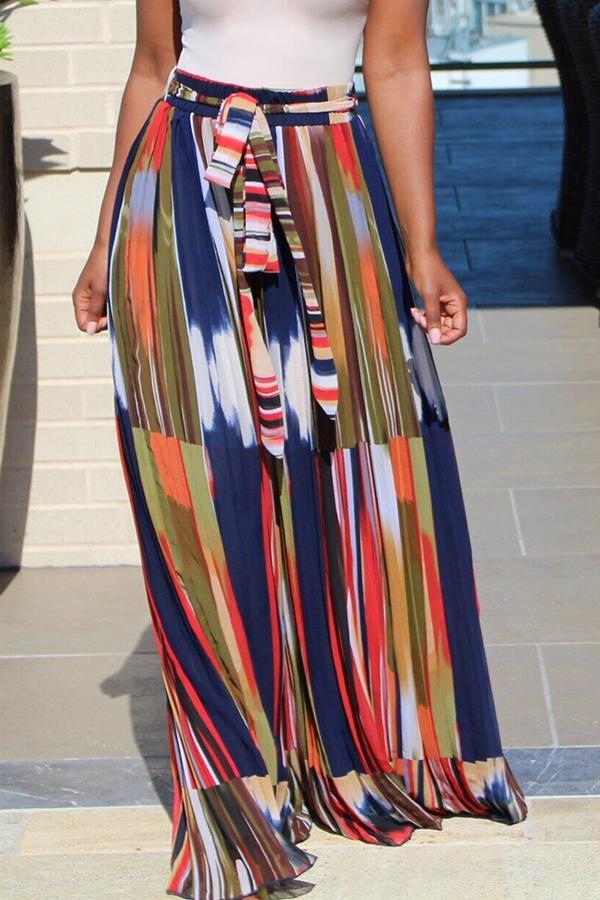 Lovely Sweet Printed Chiffon Floor Length A Line Skirt