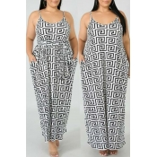 Lovely Casual Printed Ankle Length A Line Dress(Wi