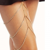 Lovely Fashion Hollow-out Gold Body Chain