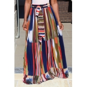 Lovely Sweet Printed Chiffon Floor Length A Line S