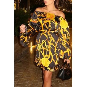 Lovely Trendy Flounce Design Black Mini  Dress