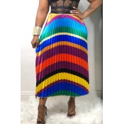 Lovely Stylish Printed Patchwork Multicolor A Line