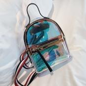 Lovely Stylish See-through Black PVC Backpacks