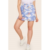 Lovely Stylish Angel Printed Skirt