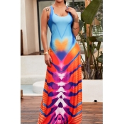 Lovely Sweet Multi-color Floor Length  Dress