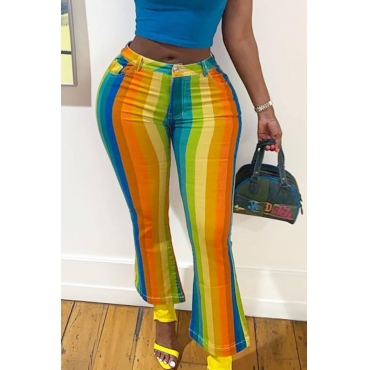 Lovely Stylish Multicolor Striped Pants