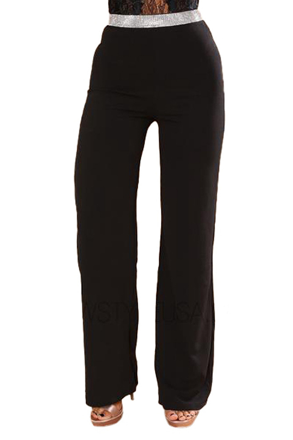 Lovely Stylish Patchwork Black Pants