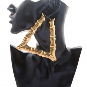 Lovely Vintage Hollow-out Gold Pvc Earring