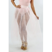 Lovely Sweet See-through White Gauze Ankle Length