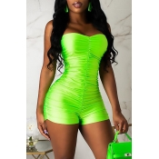 Lovely Sexy Off The Shoulder Drape Design Green On