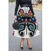 Lovely Casual Butterfly Printed Multicolor Ankle L