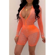 Lovely Sexy See-through Croci One-piece Romper