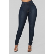Lovely Stylish High Waist Zipper Design Jeans