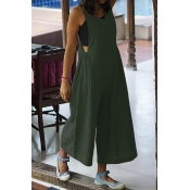 Lovely Casual V Neck Green One-piece Jumpsuit