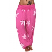 Lovely Casual Printed Light Pink Loose Pants