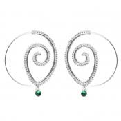 Lovely Stylish Rhinestone Decoration Silver Earrin