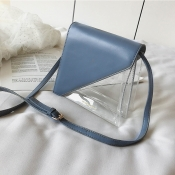 Lovely Stylish Patchwork See-through Blue Pvc Mess