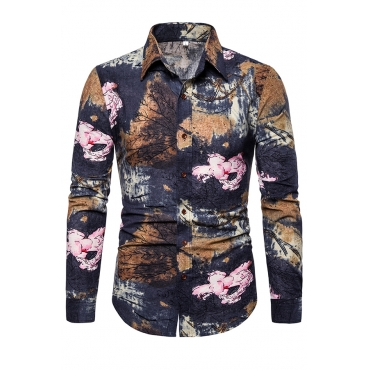 Lovely Leisure Printed Black Cotton Shirt