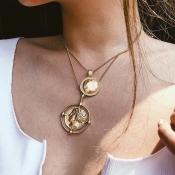 Lovely Stylish Multilayer Gold Alloy Necklace
