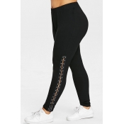 Lovely Casual Black Plus Size Leggings