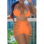 Lovely Hollow-out Croci Two-piece Swimwear