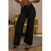 Lovely Stylish High Waist Black Pants