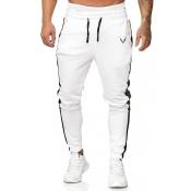 Lovely Sportswear Patchwork White Pants