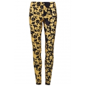 Lovely All Saints  Day Printed Yellow Pants