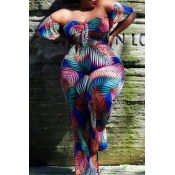 Lovely Casual Off The Shoulder Multicolor Plus Siz