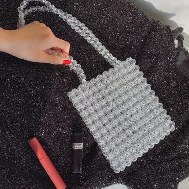 Lovely Stylish White PVC Messenger Bag