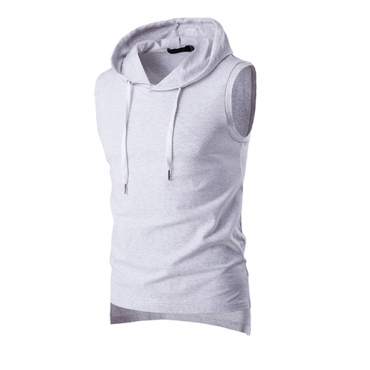 Lovely Casual Hooded Collar Light Grey Vest