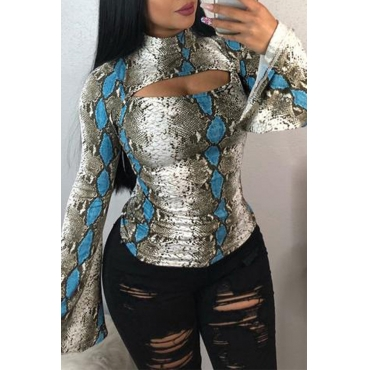 Lovely Casual Hollow-out Snakeskin Printed Base Layers