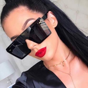 Lovely Trendy Big Frame Design Black Sunglasses