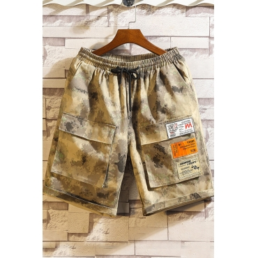 Lovely Casual Patchwork Camouflage Printed Shorts