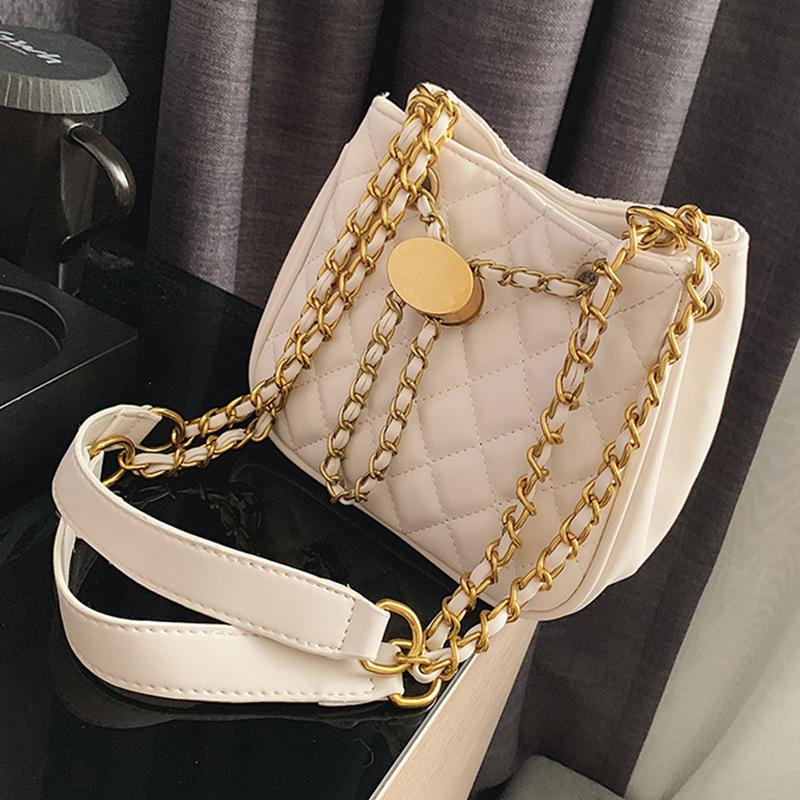 Lovely Chic Chain Strap White Messenger Bag