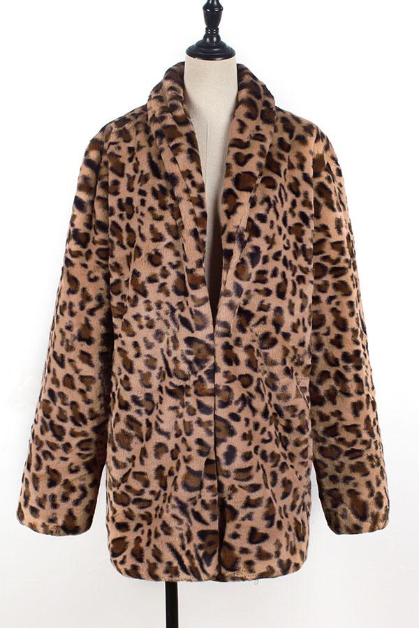 Lovely Trendy Leopard Printed Coat