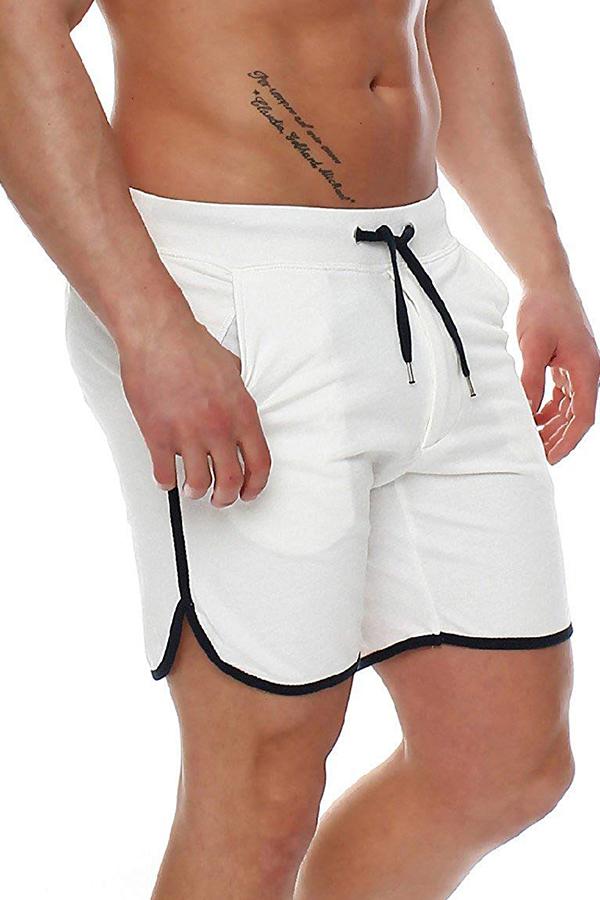 Lovely Casual Mid Waist White Short
