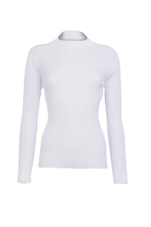 Lovely Trendy O Neck Skinny White Sweaters