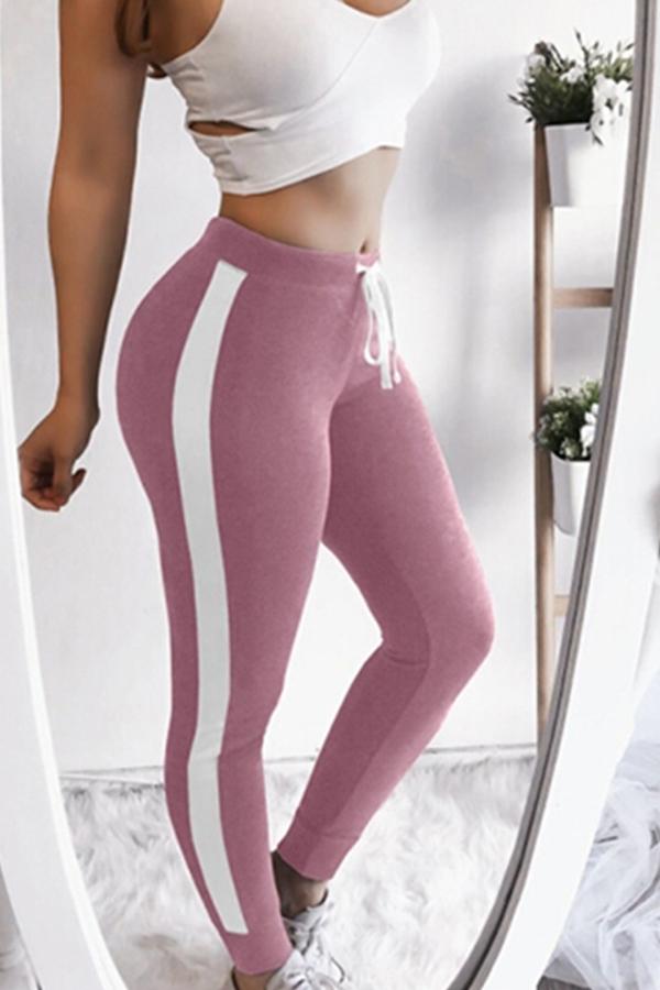 Lovely Sportswear Patchwork Pink Leggings