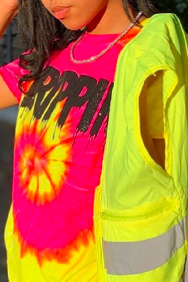 Lovely Casual Printed Multicolor T-shirt