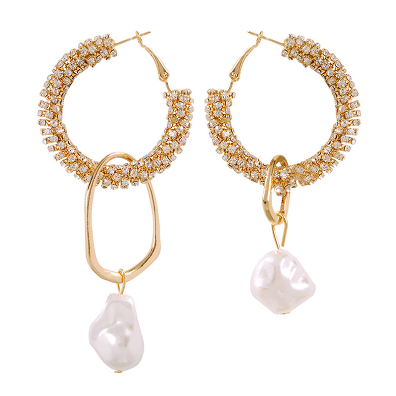 Lovely Retro Asymmetrical Gold Alloy Earring
