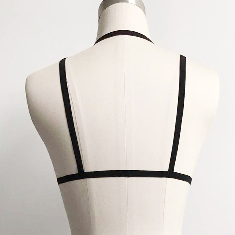 Lovely Trendy Cross-over Design Black Intimates Accessories