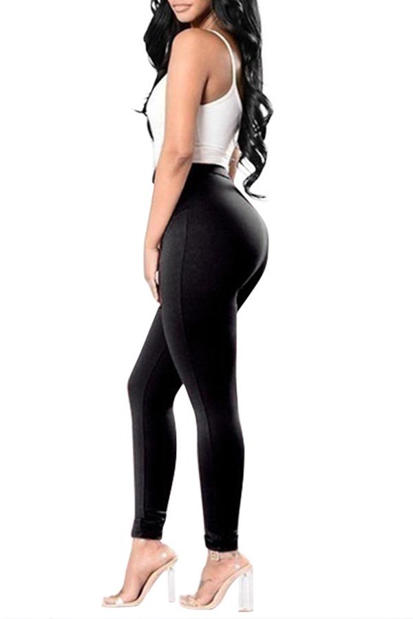 Lovely Trendy Bandage Design Black Pants