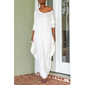 Lovely Trendy Loose White One-piece Jumpsuit