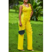 Lovely Bohemian Three-dimensional Lace Yellow One-